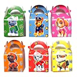 24 PC Paw Dog Patrol Party Gift Boxes, Sweets Boxes, Candy Boxes for Kids Birthday Party Supplies