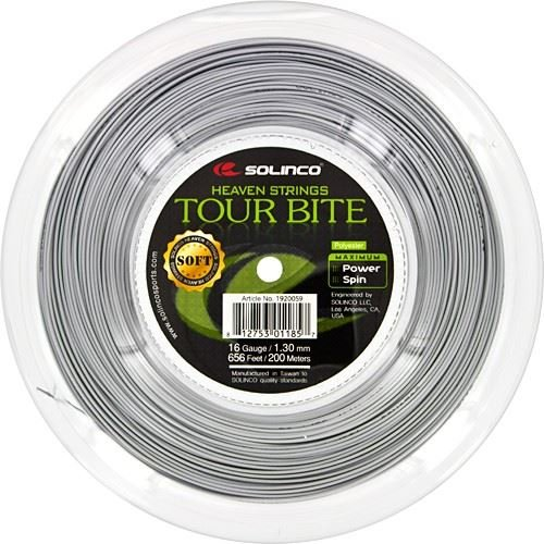 Solinco Saitenrolle Tour Bite Soft, Silber, 200 m, 0555220122000016