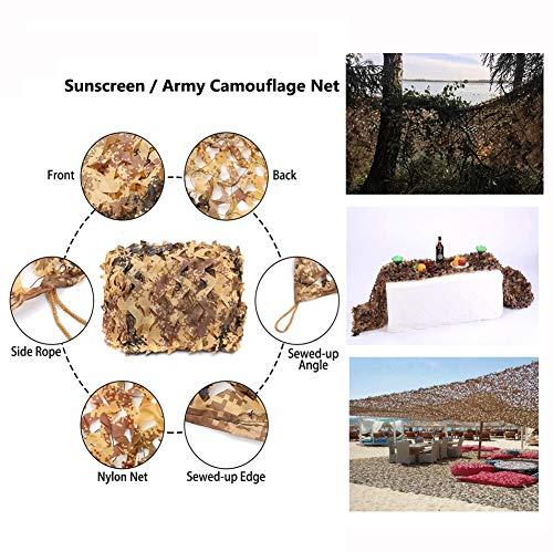 Wüste Tarnung Schutznetz Sonnencreme Schatten Armee Grünes Camo Netz,für Camping Schießen Kind Spiele Im Freien Dekoration Fotografie,Viele Größen 4*5M(13*16ft)-12*15M(39.4*49ft) ()