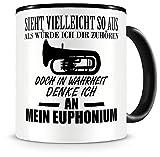 Samunshi® Ich denke an mein Euphonium Musik Instrument Tasse Kaffeetasse Teetasse Kaffeepott Kaffeebecher Becher Euphonium