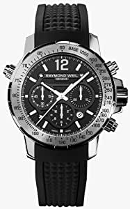 Raymond Weil Nabucco Automatic Chronograph Steel Mens Watch Date Rubber Strap 7800-SR1-05207