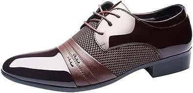 Oyedens Scarpe da Corsa Scarpe Sportive da Uomo Scarpe da Ginnastica Antiscivolo Business Oxford Lace-Up Pointed Shoes Scarpe Stringate Uomo Sneakers Espadrillas