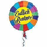 NEU Folienballon Endlich Rentner, ca. 45 cm