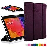 Forefront Cases funda de piel con tapa y función de apagado automático con función de encendido para 25,65 cm Samsung Galaxy Tab Pro - Black_P morado morado Galaxy Tab Pro 10.1