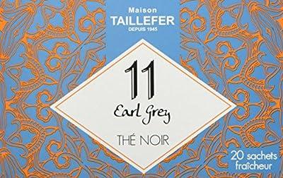 Maison Taillefer Thé Noir Earl Grey en Sachet Individuel Boîte de 20 Sachets - Lot de 5
