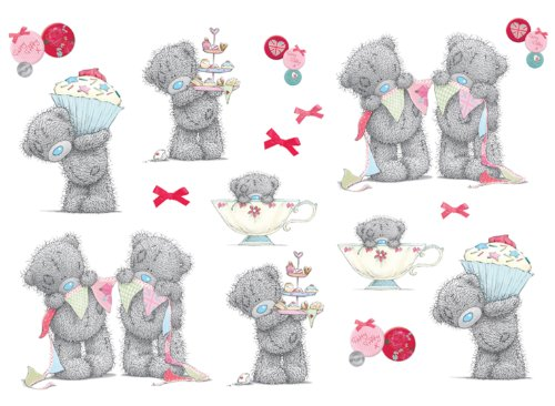 FunToSee 03501 Tatty Teddy Tea Party Stickers pour chambre