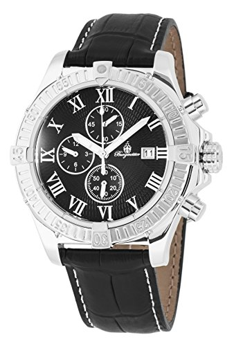 Burgmeister BM357-122 Meyrin, Gents watch, Analogue display, Chronograph with Citizen Movement - Water resistant, Stylish leather strap, Classic men's watch