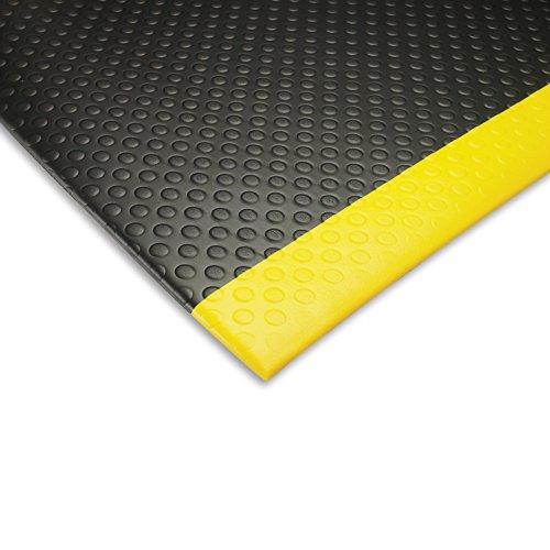 Notrax Bubble Sof-tred Tapis anti-fatigue – prédécoupés Taille – 3 x 12 '– Bordure Bordure Noir/jaune – Noir/Jaune – 3 x 12'