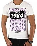 JACK & JONES Herren T-Shirt SALE verschiedene Modelle (L, Weiß LOOK2)