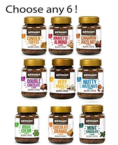 Surprise me! Beanies Flavoured Instant coffee – 6 x 50g jars – Chocolate Orange, Irish Cream, Hazelnut, Toffee, Cinnamon, Vanilla 51TNqE2QbiL