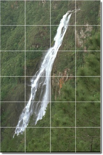 FOTOS DE CASCADAS DUCHA MURAL DE AZULEJOS 4  17X 25 5CM CON (24) 4 25X 4 25AZULEJOS DE CERAMICA