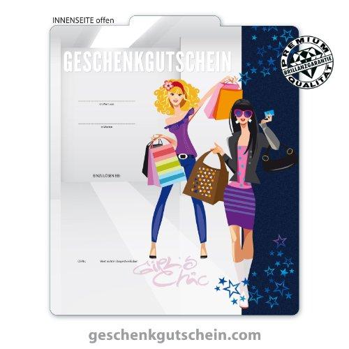 25 Stk. Multicolor-Geschenkgutscheine für Mode, Bekleidung, Fashion, Boutiquen FA247 (Bekleidung Geschenkgutscheine)