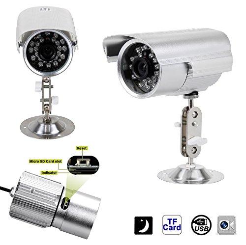 Sicherheit Typ av-dc803b IR Farb CCTV CCD mit Slot für Micro SD Card und Objektiv CMOS 3.6mm 420TVL 480P-Outdoor Waterproof Infrarot Nachtlicht 36LED mit Fernbedienung und 12V Netzteil (Sony Camcorder Infrarot)