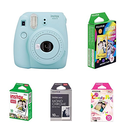 Fujifilm Instax Mini 9 Kamera ice blau mit Film Box