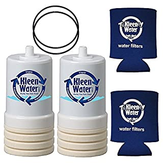 Two AP217 Cartridges and Two O-Rings compatible with 3M Aqua-Pure AP200 Under Sink Drinking Water Filter / Two Genuine KleenWater Can Holders by KleenWater/Aqua-Pure