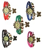 #8: Krupa Enterprise Multicolour Analog Bracelet Watches pack of 5
