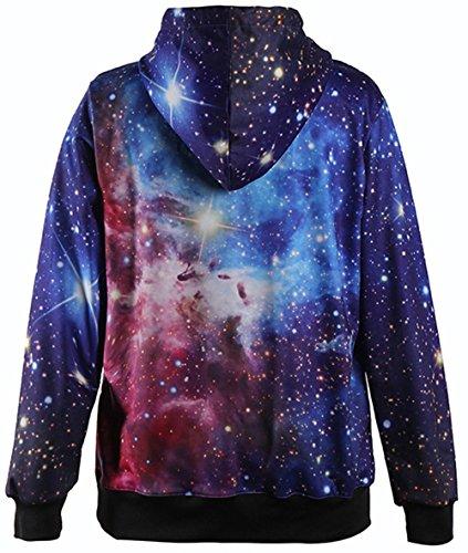 Charmley Femme Sweats à Capuche Pull Unisexe 3D Imprimé Hoodie Avec Pochette Sweatshirt Manches-Longues Sportif Multicolore Casual Pull 1012