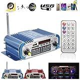 Mini Auto Amplificatore, ELEGIANT Amplificatori stereo Mini HiFi Auto Casa Amplificatore di Potenza Radio FM SD USB Audio MP3 Player/Remote Blu - Elegiant - amazon.it