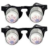 TOYMYTOY 2pcs Party lustig Brille Augapfel Brillen Scherzbrille Spielzeug