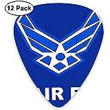 Plettri per chitarra classica Air Force Military Flag (confezione da 12) per chitarra elettrica, chitarra acustica, mandolino e basso