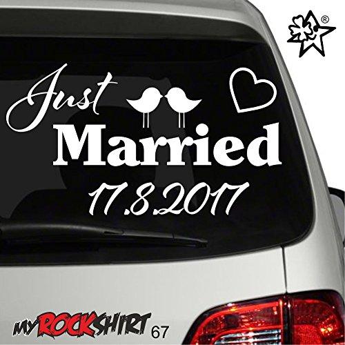 Hochzeitsaufkleber Typ 67 Autoaufkleber Deko Wandtattoo