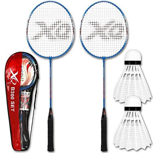 Federball - Federballset - Badmintonset - Badminton Schläger und Ball Set mit Modellauswahl (B300)