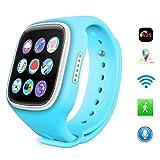 Joyeer Puce GPS Watch For Kids + wifi + APGS + base station enfants montre-bracelet avec SIM carte GSM anti-perdue pour IOS Android téléphone , blue...