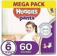 Huggies Active Baby Pants - Size 6,  15-25 kg, 60 Diapers Pants
