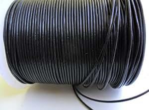 AURORIS - 10m Rolle Lederband rund - Ø 1mm - schwarz