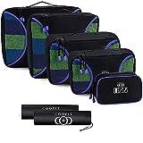 Organisateur bagages valise - Coofit - 7 PCS Valise de Voyage Organiseur de Bagage Packing Cubes Organisateur de Voyage Sac de Rangement de Bagages Set Sac de Voyage Sac d'Emballage de Bagages