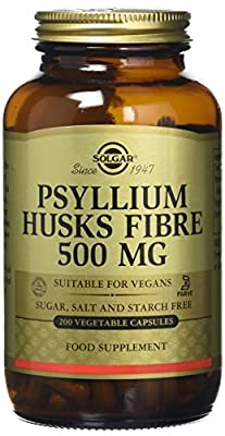 Solgar Psyllium Husks Fiber 500 mg Vegetable Capsules - 200 Vegicaps