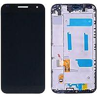 Huawei Ascend G7 Para LCD Pantalla Táctil de Digitalización Asamblea Pantalla de Recambio (Negro + Marco)
