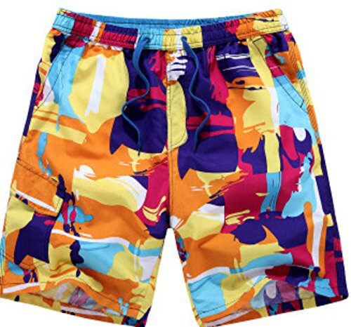 Men's Bermuda Masculina Wave Cotton Fitness Beach Shorts Multicolore