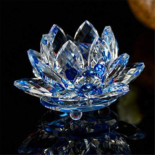 ALILEO 85Mm Crystal Lotus Crafts Glasblume Miniaturen Briefbeschwerer Tisch Ornamente Geschenk Home Decoration Zubehör, C. -