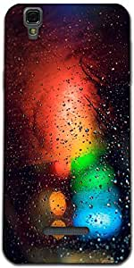 Snoogg Abstract Traffic Light Designer Protective Back Case Cover For Microma...