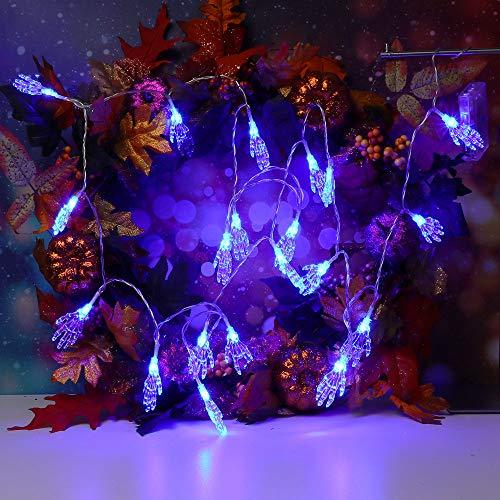 Lichterkette ,FeiliandaJJ 2.5M 20Led Geisterhand IP44 Wasserdichte Halloween Dekoration Licht Lichterkette LED Licht Hochzeit Party Weihnachten Halloween Innen/Außen Haus Deko String Lights 3*AA Batterien (Blau)