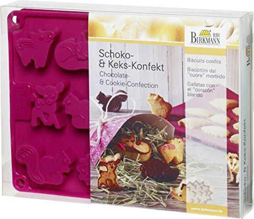 Schoko & Kekskonfekt Waldbande: 2-er Set, Silikon, mit Teigkarte+ (Rezept Kontaktlinsen)