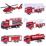 Giplar 6Stk. Mini Auto Spielzeug Baufahrzeuge Kinder - Legierung Bagger Lastwagen Autos Set