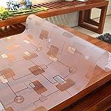 Eeayyygch PVC-Tischdecken, wasserfest, verbrühungsfest, ölfest, waschbeständig, für Couchtisch, Möbeldekoration, 80 x 130 cm, a, 80x120cm(31x47inch)