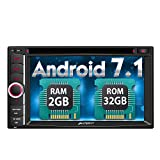 Pumpkin Android 7.1 Autoradio 2 Din DVD Player mit Navi Unsterstützt Bluetooth DAB+ WLAN 4G USB MicroSD CD Aux 6,2 Zoll Bildschirm Universal