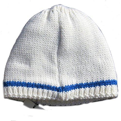 Bogner Kids Bonnet de ski Basti Blanc Bleu Weiß