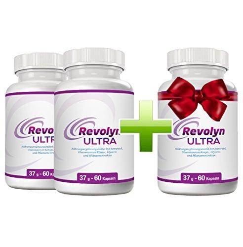 Revolyn Ultra - top Diätpille für schnelles und gesundes Abnehmen & effektiven Fettabbau.   Ärztlich empfohlene Abnehm-Kapseln.   Rein natürliche Inhaltsstoffe.   Garantiertes Abnehmen an Bauch, Beinen und Po mit diesen Diättabletten.   Spezial-Paket 3 Flaschen zum Preis von 2!