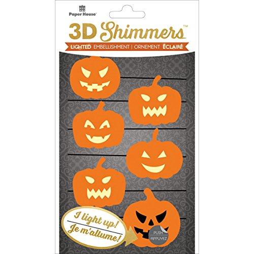 Papier House Productions Girlande Kürbis LED 3D schimmert, ()