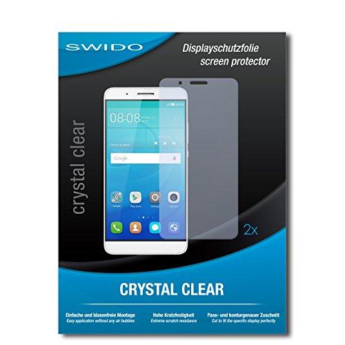SWIDO Schutzfolie für Huawei ShotX [2 Stück] Kristall-Klar, Hoher Härtegrad, Schutz vor Öl, Staub & Kratzer/Glasfolie, Bildschirmschutz, Bildschirmschutzfolie, Panzerglas-Folie