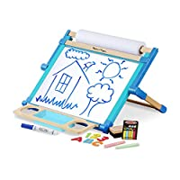 Melissa & Doug 12790 Double-Sided Magnetic Tabletop Art Easel - Dry-Erase Board and Chalkboard