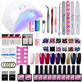 Saint-Acior Gel Nail Polish Starter Kit 10 Colors 36W Lamp UV Led Nail