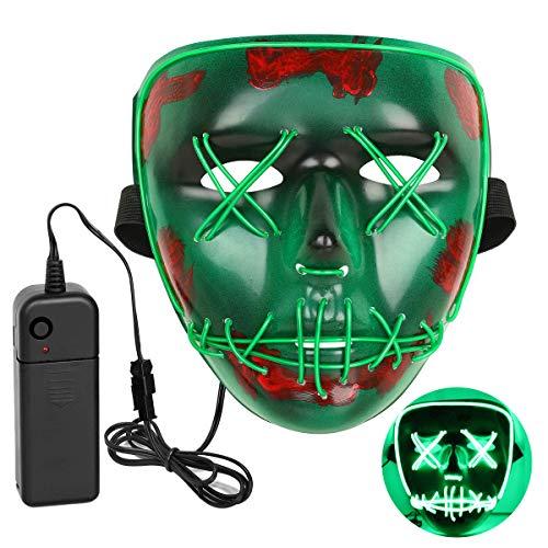 INKERSCOOP LED Halloween Maske Maske LED Leuchten Reinigung -