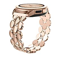 FGHS Roestvrij stalen band armband Classic Band 20mm Breedte Metal Strap (Band Color : RoseGold)