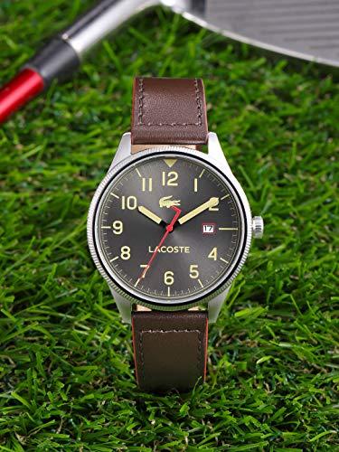 Lacoste Reloj Analógico para Hombre de Cuarzo con Correa en Cuero 2011020