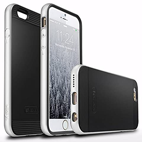 Vena [vFrame] Apple iPhone 6s / 6 Case [Aluminum Metal Frame] Ultra Slim Fit Hybrid TPU Bumper Case Cover for Apple iPhone 6 and 6s (Silver)